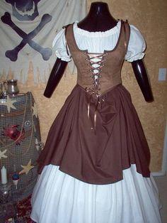 Pirate Renaisssance Costume Plus Sizes Available via Etsy