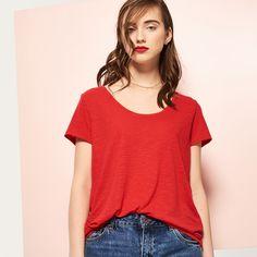 Gładki t-shirt, RESERVED, PQ025-33X
