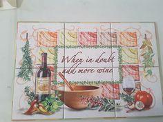 """Add more wine tile mural on 6"""" tiles at  £84 www.tilemuralstore.co.uk  #tilemural #kitchensplashback #winetime #wine"""