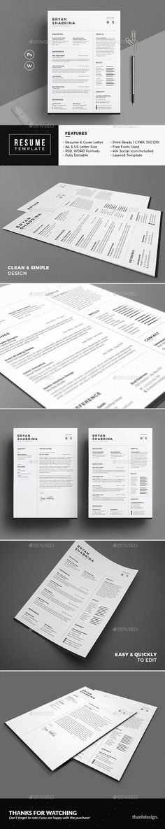 107 best Resume images on Pinterest Charts, Cv template and