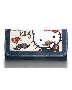 Wallet - Hello Kitty - Sanrio Mustache