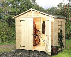 Domek na narzędzia (rowery i sprzęt ogrodowy)