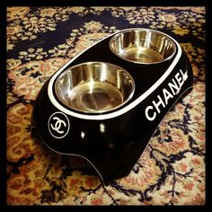 Chanel Dog Bowls
