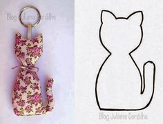 sewing tutorial for keychain ♥