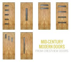 Mid Century Modern Garage Doors With Windows 9 mid-century modern exterior door styles from simpson doors