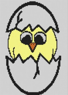 Hatching Chick 3 Cross Stitch Pattern