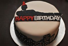 Mad Men birthday cake! It's perfect, and I want it!