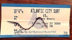 2006 Atlantic City Surf vs Newark Bears Ticket | eBay