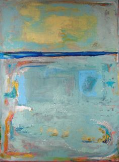 Abstract Painting Acrylic blue 36 x 48 modern wall art contemporary home decor by Cheryl Wasilow