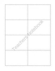 Spelling Flash Card Template Free Download  Spelling