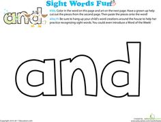 Sight words are small, everyday words that kids need to know so they can put bigger words together to make sentences. Help your child learn sight words with our finest sight words worksheets.