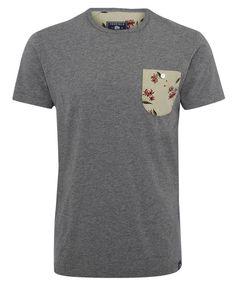 Penfield Grey Roseland Floral Print Pocket T-Shirt
