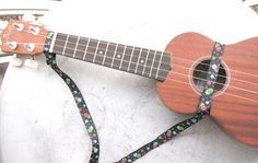 How to make a uke strap! Easy to do with just some ribbon and a couple of snaps.