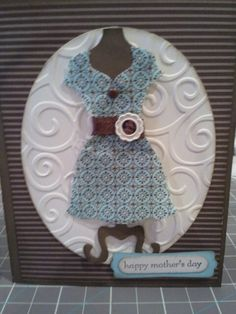 My moms mother's day card made with Stampin' Up! Dress Up framelits. DesignsWithPaper.blogspot.com