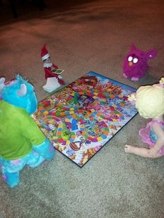 Playing games with other toy buddies #elfontheshelf
