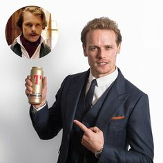 Tweet by @tennents.lager The next Golden Can goes to Scots actor @SamHeughan of #Outlander! He also played Hugh Tennent in one of our ads... Here's to you Sam #SamHeughan #Outlander via ✨ @padgram ✨(http://dl.padgram.com)