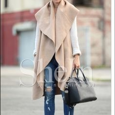 Beige Vest Soft material. Warm. Stylish. New. Jackets & Coats Vests