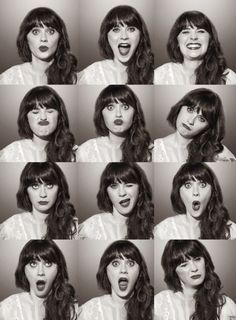 The many faces of Zooey Deschannel. Love her in The New Girl