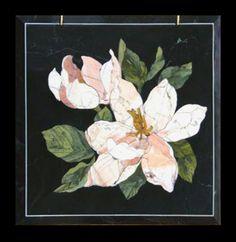 Шкатулка «Цветы магнолии» Камень яшма, флорентийская мозаика ...