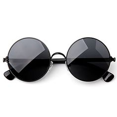Mens Trendy Vintage Round Sunglasses