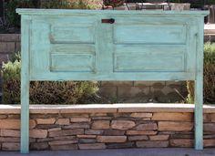 Repurposed King Wood Door Headboard By Foo Foo by FooFooLaLaChild, $460.00