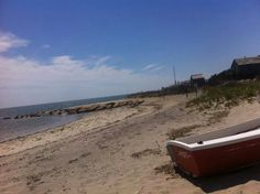 Dingy and beach
