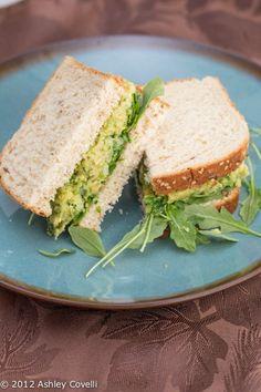 Smashed Chickpea & Avocado Salad Sandwich Veggin' It #DeliLove by Riley Hughes