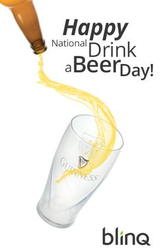 It's National Drink a Beer Day! This just sounds like an excuse to drink beer...and that's ok! Enjoy your beer in a great Guinness Pint Glass and celebrate in style!