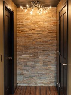 Stone wall in basement