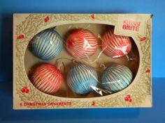 1970's Shiny Brite Christmas Ornaments