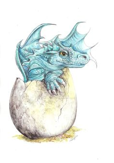 Silvertrace Baby And Egg by *morgansartworld on deviantART [Also in Dragon Babies & Eggs]