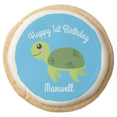 Under the Sea Turtle Birthday Shortbread CookiesA selection of products for the home with a seaside theme. Shortbread Cookies, Oreo Cookies, Sea Aquarium, Seaside Theme, Turtle Birthday, Tree Nuts, Beverage Packaging, Cookies Ingredients, Jar Lids