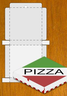 Pizza Box i will do this and have the TMNT pics on the front for the kids lunch - VORLAGEN - Pizza Box Crafts, Pizza Craft, Pizzeria, Garfield Birthday, Birthday Lunch, Birthday Box, Felt Play Food, Masterchef, Ninja Turtle Party