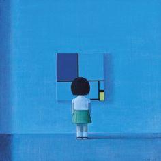 Liu Ye, COMPOSITION WITH MOONLIGHT on ArtStack #liu-ye-liu-ye #art