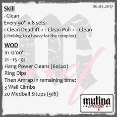 "33 gilla-markeringar, 1 kommentarer - Mutina CrossFit (@mutinacrossfit) på Instagram: ""#wod #mutinacrossfit #crossfit #workout #conditioning #metabolic #endurance #weightlifting…"""