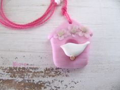 Ketten kurz - Kette Vogelhäuschen - ein Designerstück von MIO-O bei DaWanda