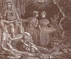 Born during the reign of James IV of Scotland, Sawney Beane & his wife fled from their village & began living in a cave. They spawned a family that - through years of incest - grew to 4 dozen members. Preying on unwary travelers, the Beane clan not only robbed but cannibalized their victims, salting & pickling the extra meat for the future. According to legend, hundreds of people were killed & eaten. A small army, led by the Scots king himself, rounded them all up & burned them all alive.
