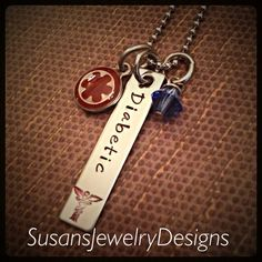 Medical Alert Rectangle Necklace  by SusansJewelryDesigns on Etsy