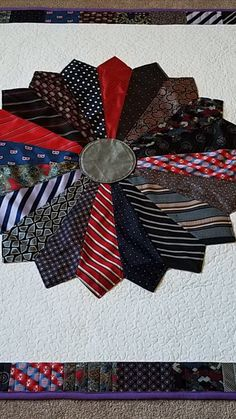Memory Quilts, Tie Quilt, Quilt Making, 4th Of July Wreath, Making Out, How To Memorize Things, Memories, Fabric, Handmade
