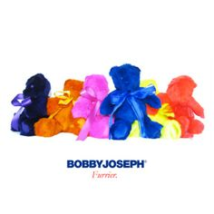 "VALENTINE'S DAY!!  Custom-dyed Rabbit Fur 16"" BOBBY JOSEPH® Teddy Bears"