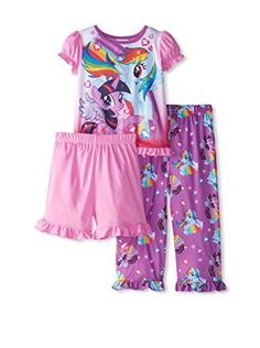 """AME My Little Pony 3 Piece Set (Toddler) – Multicolor My Little Pony Rainbow Dash Set Features: Flame Resistant Short Sleeve/Short Leg{lang: """"""""} Girls Dress Pants, Baby Girl Dresses, Dress Outfits, Toddler Girl Outfits, Toddler Girls, Short Legs, Rainbow Dash, Halloween Gifts, My Little Pony"""