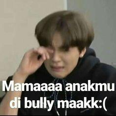 Memes Funny Faces, Funny Kpop Memes, Cute Memes, Funny Tweets Twitter, K Meme, Art Jokes, Cartoon Jokes, New Memes, K Idol