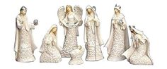7-Piece Nativity Set, The Holy Family with The 3 Kings and a Gloria Angel