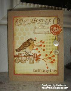 The little bird Boy Birthday, Birthday Cards, Shabby Vintage, Vintage Style, Bird Cards, Card Making Inspiration, Hero Arts, Scrapbook Cards, Scrapbooking