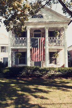 southern home, american flag