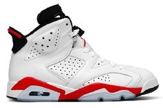designer fashion d6544 671dc Air Jordan 6 Vi Retro Mens Basketball Sneakers White Infrared Black  384664123 sz     You can get additional details at the image link.