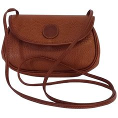 Pre-owned Mark Cross Cognac Brown Leather Small Cross Body Bag (290 CAD) ❤ liked on Polyvore featuring bags, handbags, shoulder bags, none, leather purse, brown leather shoulder bag, crossbody purse and brown leather purse
