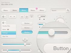 Dribbble - Blue Milk UI Kit (Updated) by Ryan Warner