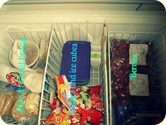 Organizing a chest freezer