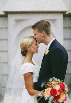 modest wedding dress veil chiffon LDS wedding dress
